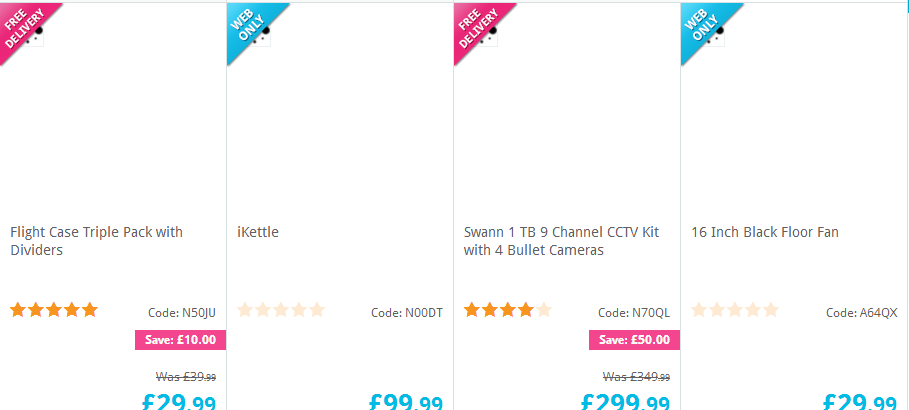 JavaScript disabled on Maplin website = no product images