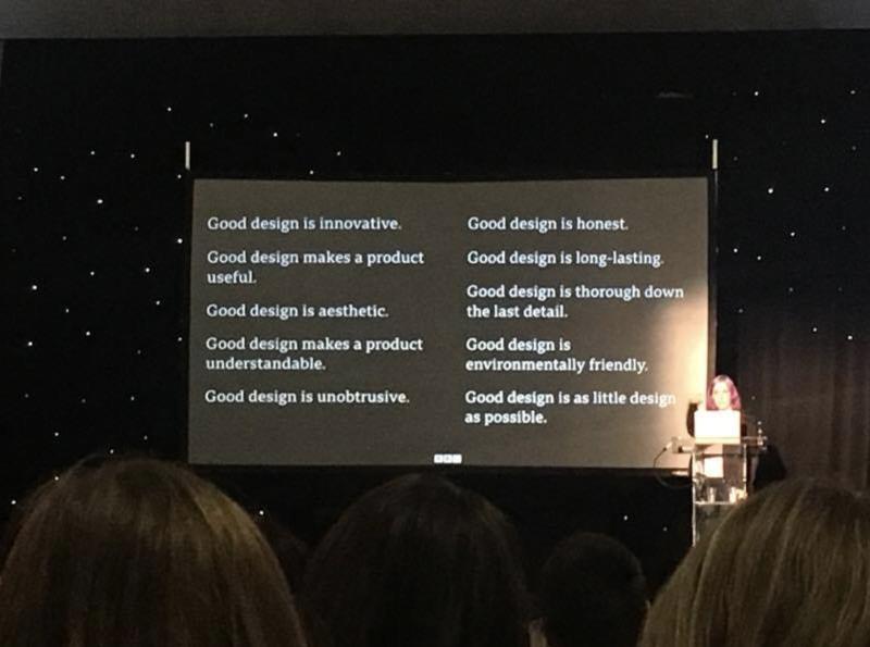 Jane Murison speaking at Manchester Design Festival