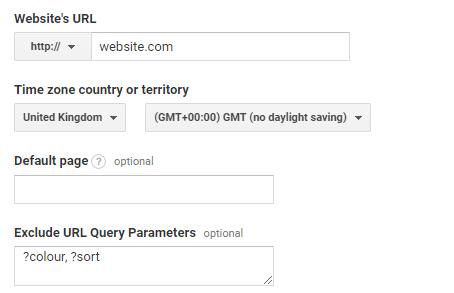 URL query parameters in google analytics