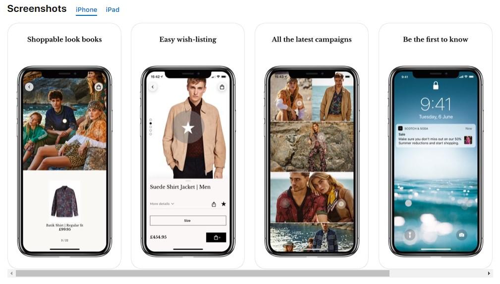 App screenshot scotch and soda