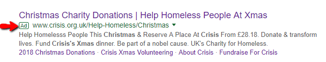 Charity Google Ad