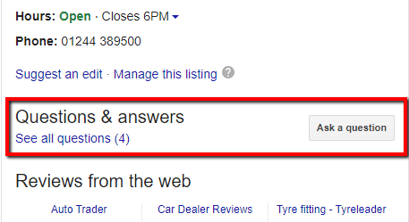 Google My Business Questions