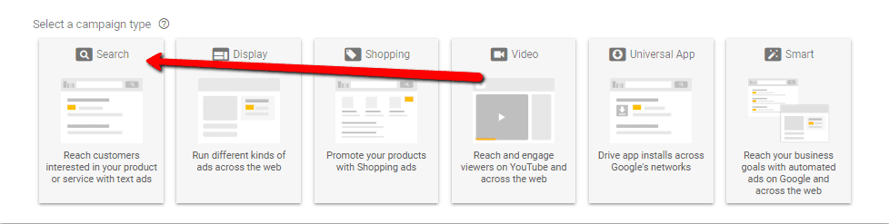 Google AdWords screen shot