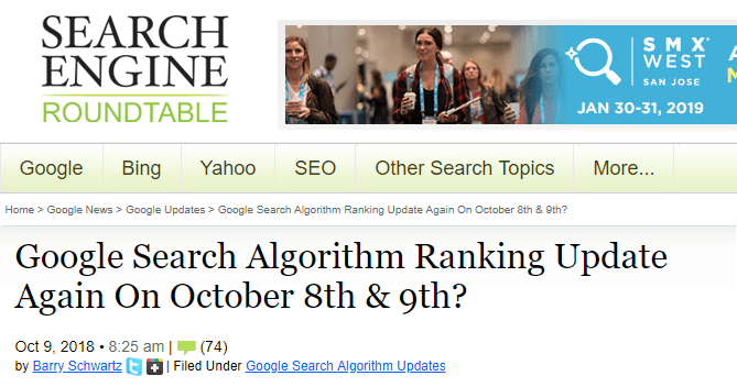 Search engine roundtable october updates continued